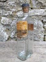 Vintage 1/2 Pint Glass Bottle Tablespoon Markings-Harry Smith Chemist Pendleton