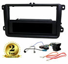 Black Single/Double Din Radio Fascia Fitting Adaptor Kit for VW Polo 2005-2009
