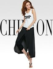 NEW HOT Women Chiffon Casual Splip Loose Casual Bloomers Pantalette Trouser Pant