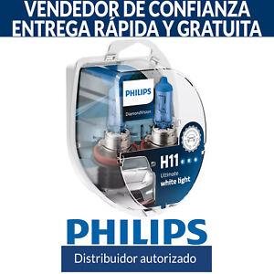 Philips Diamond Vision H11 Bombillas De Mejora De Faro 5000K (Pack Doble)
