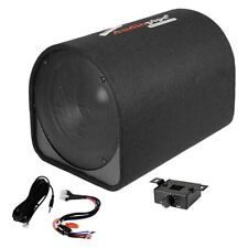 "NEW 12"" Powered Subwoofer Speaker Tube.enclosure box.Active boat bass.knob.12in."