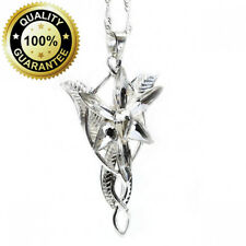LOTR Lord Of The Rings Hobbit Arwen EVENSTAR Silver Tone Necklace Crystal...