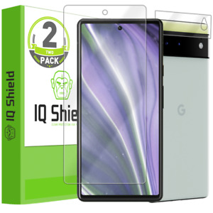 2x IQ Shield LIQuidSkin Screen Protector for Google Pixel 6 with Camera Lens