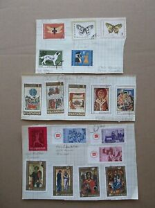 STAMPS SMALL BUNDLE VARIOUS VALUES and COUNTRIES - CANCELLED