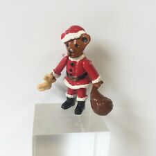 More details for miniature hand painted pewter santa bear xmas dolls house dollhouse toy nursery