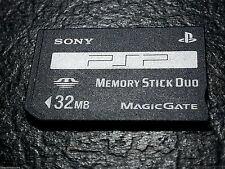 Sony 32MB Memory Stick Duo - PSP Memory Card PSP-M32 UK