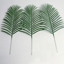1x Green Palm Leaves Plastic Silk Fake Plant Artificial Flowers Leaf Home Decor