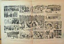 Hop Pickers, Itinerant Workers, Harvest, Brewery, Beer, Vintage 1874 Art Print