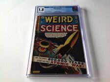WEIRD SCIENCE 5 CGC 1.8 PRE CODE SCI FI EC COMICS ATOMIC COVER HYPODERMIC NEEDLE