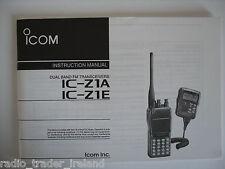Icom-z1a / e (véritable manuel d'instructions uniquement)....... radio_trader_ireland.