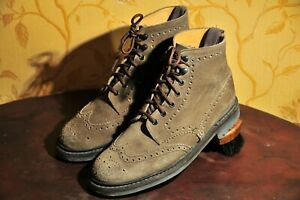 """Church's """"McFarlane 2"""" Grey Suede Leather Boot Brogue UK 7.5G / US 8.5 D"""