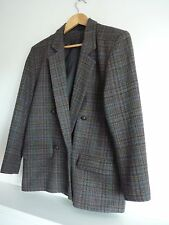 Ladies Lovely Dorothy Perkins Wool Mix Check Smart Country Jacket Size 12, Vgc