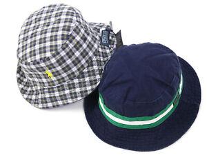 Polo Ralph Lauren Reversible Safari Bucket Hat Cap Navy, Green, White - size S/M