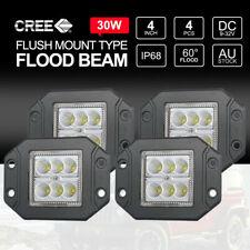 4 inch 30W CREE Flush Mount LED Work Lights 12V 24V FLOOD Reverse Lights 4PCS