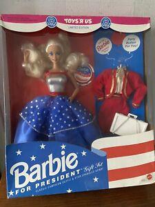 Vintage Barbie For President Fashion Doll Gift Set Nrfb Toys R Us Exclusive HTF