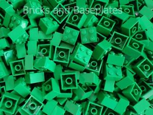 LEGO BRICKS 200 x GREEN 2x2 Pin  From Brand New Sets Sent In a Sealed Bag