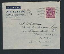 04194) GB / UK GA Aerogramme LF1 I, Bristol 22.11.44 > Australia