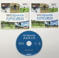 Wii Sports (Nintendo Wii, 2006) Game Complete w/Manual And Cardboard Case