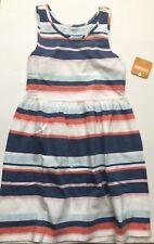 NWT GYMBOREE DRESS 14 Summer Sun Dress Sleeveless Coral Blue White Stripe NEW