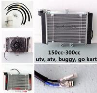 200cc 250cc engine WATER cooled cooler Radiator COOLING fan Quad 4X4 ATV GO KART