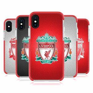 LIVERPOOL FC LFC CREST 2 RED SHOCKPROOF GEL BUMPER CASE FOR APPLE iPHONE PHONES