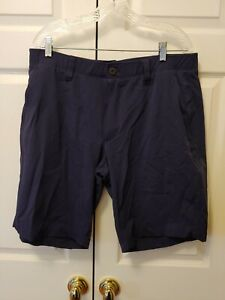 """New Men Under Armour Navy Blue Shorts Loose Fit Size 38 11"""" Inseam"""