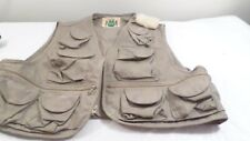 """Vintage IDEAL Hunting Fishing Vest XXL Lots of Pockets 19""""L 52 Chest"""