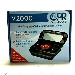 CPR Call Blocker V2000 Pre-Programmed with 2000 Scam Telemarketer Numbers