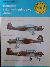 Buch / Book: Typy Broni i Uzbrojenia 110/1986 Samolot szkolno-treningowy Junak