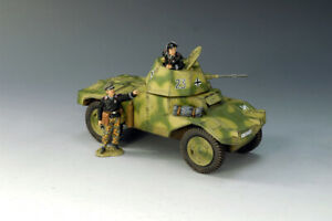 King and Country WS125 WWII German Panhard Armored Car  New Retired & Sold Out