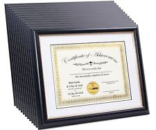 CreativePF [11x14bk/gd] Black Certificate Frame Displays 8.5 by 11-inch Certific