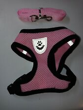 XS Mesh Harness With Padded Vest With Leash For Dogs 4-6 lbs. No Choke Design.