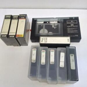 VHS Video Cassette Adaptor VYMS0065 w 8 Used EHG Tapes n Cleaner