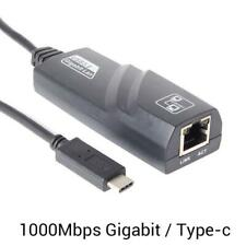 USB Type-C Thunderbolt3 to Ethernet 1000Mbps RJ45 Lan Cable Adapter Network Card