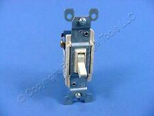 Leviton Ivory 3-Way Toggle Wall Light Switch Residential 15A 120V Bulk 1453-I