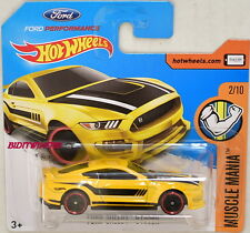 HOT WHEELS 2017 MUSCLE MANIA FORD SHELBY GT350R #2/10 SHORT CARD