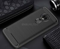 For Motorola Moto G6 Play Carbon Fibre Gel Case Cover Shockproof Ultra Slim