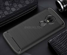 For Motorola Moto G6 Play Carbon Fibre Gel Case Cover Brushed Shockproof Hybrid