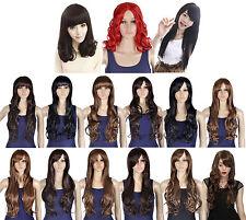 Women Girls Wavy Curly Cosplay Halloween Party Long Hair Lady Full Wigs Fancy