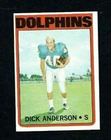 NMT 1972 Topps #98 Dick Anderson.