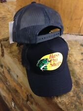 NEW! Navy blue Cap by BASS PRO SHOPS Adult Unisex MESH Style Trucker Hat  B