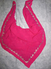 Vintage pink raw silk with silver inlay scarf