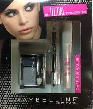 Maybelline The illegal Provocative Look illegal Mascara +Eyeliner +Eyeshadow SET