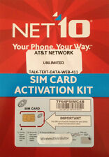 NET10 DUAL SIM CARD UNLIMITED TALK-TEXT-DATA $50/$45/$40 MO. ON AT&T NETWORK