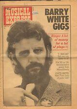 APRIL12 1975 NEW MUSICAL EXPRESS newsprint magazine BEATLES - RINGO
