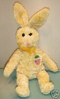 STICHLER STUFFED ANIMALS: 1 YELLOW-DUCK/1 YELLOW-EASTER BUNNY/SPRING/TOY