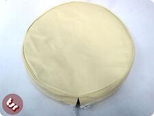 """Vespa/lambretta 10 """"rueda de repuesto crema cubierta"""