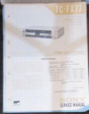 Sony TC-FX77 Manual de taller de reparación de servicio Platina de cassette (copia Original)