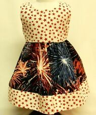 4th Of July Themed Cotton Print Sundress For 18 Inch Doll