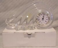 """10.25"""" Mikasa Quartz Clock Clearwater Wave Austrian Lead Crystal Made In Germany"""